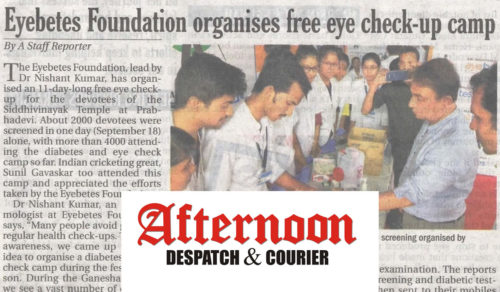 free eye check-up camp